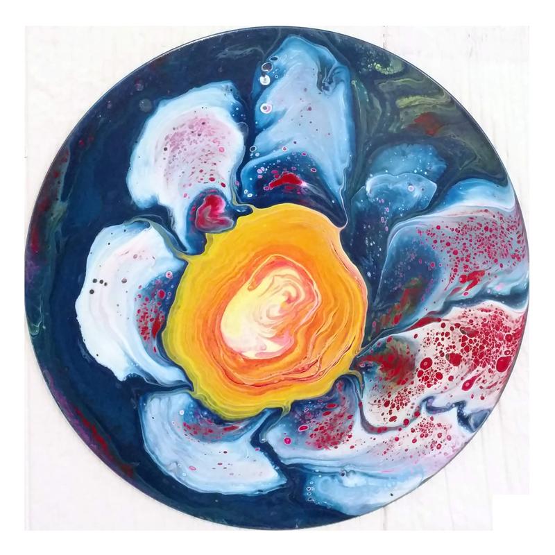 orange-blue-vinylism-albums-upcycled-art-nc